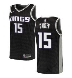 Men's Nike Sacramento Kings #15 Vince Carter Authentic Black NBA Jersey Statement Edition