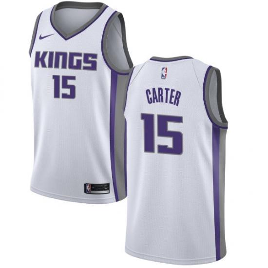 Women's Nike Sacramento Kings #15 Vince Carter Swingman White NBA Jersey - Association Edition