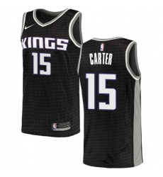 Youth Nike Sacramento Kings #15 Vince Carter Swingman Black NBA Jersey Statement Edition