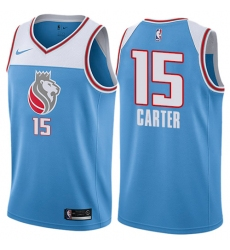 Youth Nike Sacramento Kings #15 Vince Carter Swingman Blue NBA Jersey - City Edition