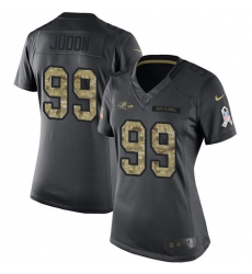 Women's Nike Baltimore Ravens #99 Matt Judon Limited Black 2016 Salute to Service NFL Jersey