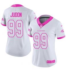 Women's Nike Baltimore Ravens #99 Matt Judon Limited White/Pink Rush Fashion NFL Jersey