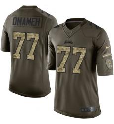 Men's Nike Jacksonville Jaguars #77 Patrick Omameh Elite Green Salute to Service NFL Jersey