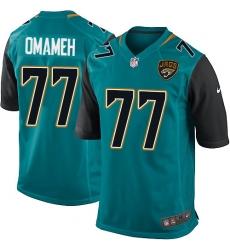 Men's Nike Jacksonville Jaguars #77 Patrick Omameh Game Teal Green Team Color NFL Jersey