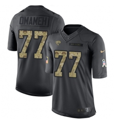 Men's Nike Jacksonville Jaguars #77 Patrick Omameh Limited Black 2016 Salute to Service NFL Jersey