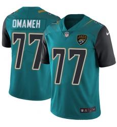 Men's Nike Jacksonville Jaguars #77 Patrick Omameh Teal Green Team Color Vapor Untouchable Limited Player NFL Jersey
