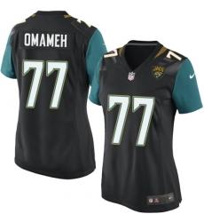 Women's Nike Jacksonville Jaguars #77 Patrick Omameh Game Black Alternate NFL Jersey