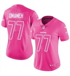 Women's Nike Jacksonville Jaguars #77 Patrick Omameh Limited Pink Rush Fashion NFL Jersey