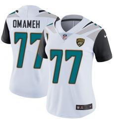 Women's Nike Jacksonville Jaguars #77 Patrick Omameh White Vapor Untouchable Elite Player NFL Jersey