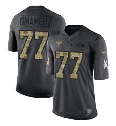 Youth Nike Jacksonville Jaguars #77 Patrick Omameh Limited Black 2016 Salute to Service NFL Jersey