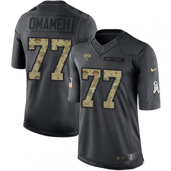 Youth Nike Jacksonville Jaguars #77 Patrick Omameh Limited Black 2016 Salute to Service NFL Jersey