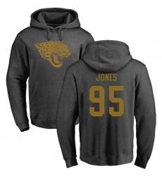 NFL Nike Jacksonville Jaguars #95 Abry Jones Ash One Color Pullover Hoodie