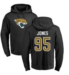 NFL Nike Jacksonville Jaguars #95 Abry Jones Black Name & Number Logo Pullover Hoodie