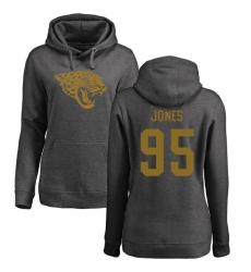 NFL Women's Nike Jacksonville Jaguars #95 Abry Jones Ash One Color Pullover Hoodie