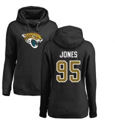 NFL Women's Nike Jacksonville Jaguars #95 Abry Jones Black Name & Number Logo Pullover Hoodie