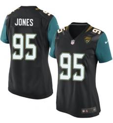 Women's Nike Jacksonville Jaguars #95 Abry Jones Game Black Alternate NFL Jersey