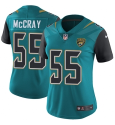 Women's Nike Jacksonville Jaguars #55 Lerentee McCray Teal Green Team Color Vapor Untouchable Limited Player NFL Jersey