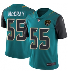 Youth Nike Jacksonville Jaguars #55 Lerentee McCray Teal Green Team Color Vapor Untouchable Limited Player NFL Jersey