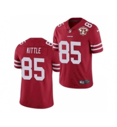 Men's San Francisco 49ers #85 George Kittle Red 2021 75th Anniversary Vapor Untouchable Limited Jersey