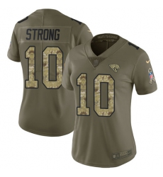 Women's Nike Jacksonville Jaguars #10 Jaelen Strong Limited Olive/Camo 2017 Salute to Service NFL Jersey