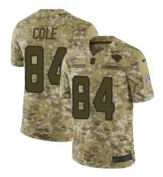 Men's Nike Jacksonville Jaguars #84 Keelan Cole Limited Camo 2018 Salute to Service NFL Jersey