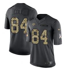 Youth Nike Jacksonville Jaguars #84 Keelan Cole Limited Black 2016 Salute to Service NFL Jersey