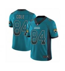 Youth Nike Jacksonville Jaguars #84 Keelan Cole Limited Teal Green Rush Drift Fashion NFL Jersey