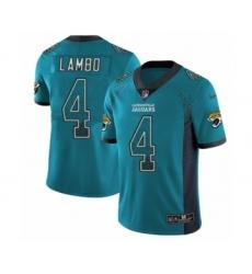 Men's Nike Jacksonville Jaguars #4 Josh Lambo Limited Teal Green Rush Drift Fashion NFL Jersey