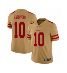 Women's San Francisco 49ers #10 Jimmy Garoppolo Limited Gold Inverted Legend Football Jersey