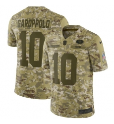 Youth Nike San Francisco 49ers #10 Jimmy Garoppolo Limited Camo 2018 Salute to Service NFL Jersey