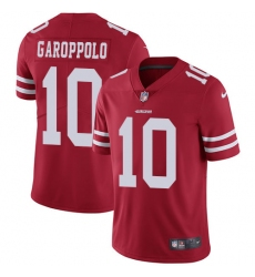Youth Nike San Francisco 49ers #10 Jimmy Garoppolo Red Team Color Vapor Untouchable Elite Player NFL Jersey