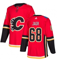 Men's Adidas Calgary Flames #68 Jaromir Jagr Authentic Red Home NHL Jersey