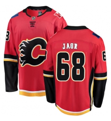 Men's Calgary Flames #68 Jaromir Jagr Fanatics Branded Red Home Breakaway NHL Jersey