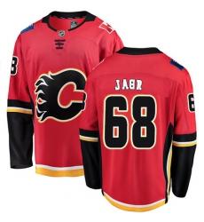 Youth Calgary Flames #68 Jaromir Jagr Fanatics Branded Red Home Breakaway NHL Jersey