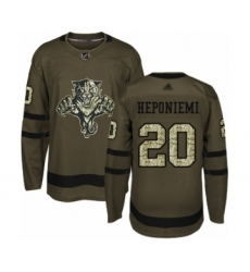 Men's Florida Panthers #20 Aleksi Heponiemi Authentic Green Salute to Service Hockey Jersey