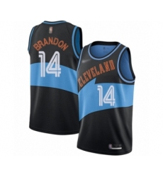 Women's Cleveland Cavaliers #14 Terrell Brandon Swingman Black Hardwood Classics Finished Basketball Jersey