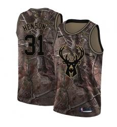 Men's Nike Milwaukee Bucks #31 John Henson Swingman Camo Realtree Collection NBA Jersey