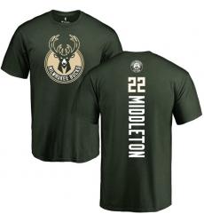 NBA Nike Milwaukee Bucks #22 Khris Middleton Green Backer T-Shirt