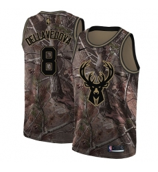 Men's Nike Milwaukee Bucks #8 Matthew Dellavedova Swingman Camo Realtree Collection NBA Jersey