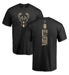 NBA Nike Milwaukee Bucks #8 Matthew Dellavedova Black One Color Backer T-Shirt