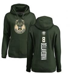 NBA Women's Nike Milwaukee Bucks #8 Matthew Dellavedova Green Backer Pullover Hoodie