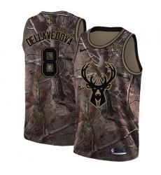 Women's Nike Milwaukee Bucks #8 Matthew Dellavedova Swingman Camo Realtree Collection NBA Jersey