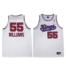 Men's Adidas Sacramento Kings #55 Jason Williams Authentic White New Throwback NBA Jersey