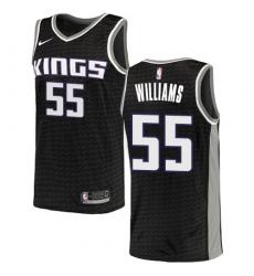 Men's Nike Sacramento Kings #55 Jason Williams Authentic Black NBA Jersey Statement Edition