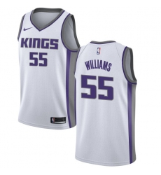 Men's Nike Sacramento Kings #55 Jason Williams Authentic White NBA Jersey - Association Edition