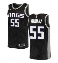 Women's Nike Sacramento Kings #55 Jason Williams Swingman Black NBA Jersey Statement Edition