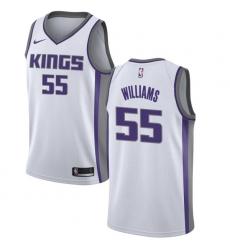 Youth Nike Sacramento Kings #55 Jason Williams Swingman White NBA Jersey - Association Edition