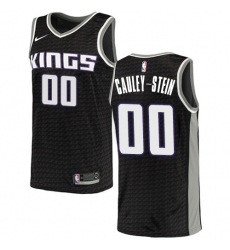 Men's Nike Sacramento Kings #0 Willie Cauley-Stein Authentic Black NBA Jersey Statement Edition