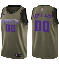 Youth Nike Sacramento Kings #0 Willie Cauley-Stein Swingman Green Salute to Service NBA Jersey