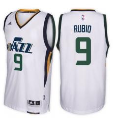 Utah Jazz #9 Ricky Rubio Home White New Swingman Stitched NBA Jersey